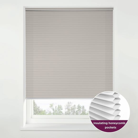 Swish Morning Mist Cordless Insulating Pleated Blind Grey undefined
