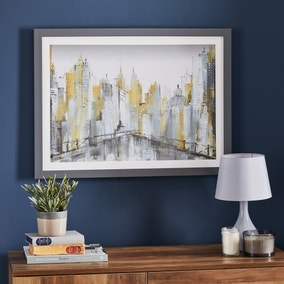 Abstract City Scape Framed Print