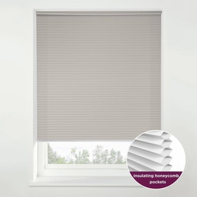 Swish Morning Mist Cordless Insulating Pleated Blind