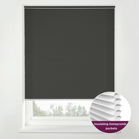 Swish Storm Cloud Cordless Insulating Pleated Blind