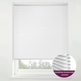 Swish Snow Flurry Cordless Insulating Pleated Blind