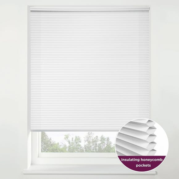 Swish Snow Flurry Cordless Insulating Pleated Blind White undefined