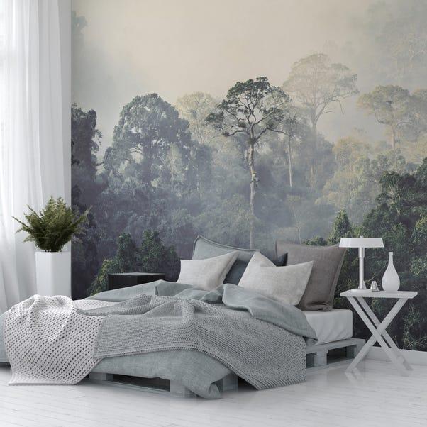 Rainforest Mural Wallpaper Green