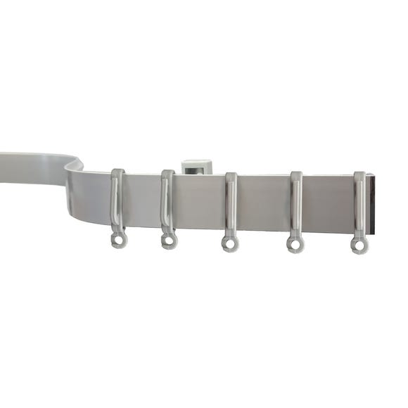 Silver Bendable Curtain Track  undefined