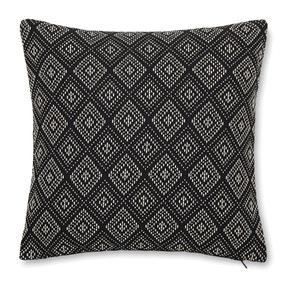 Diamond Black Geometric Cushion