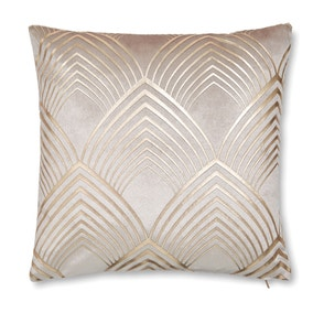 Cream Geometric Foil Cushion