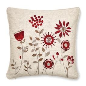 Scandi Field Embroidered Cushion