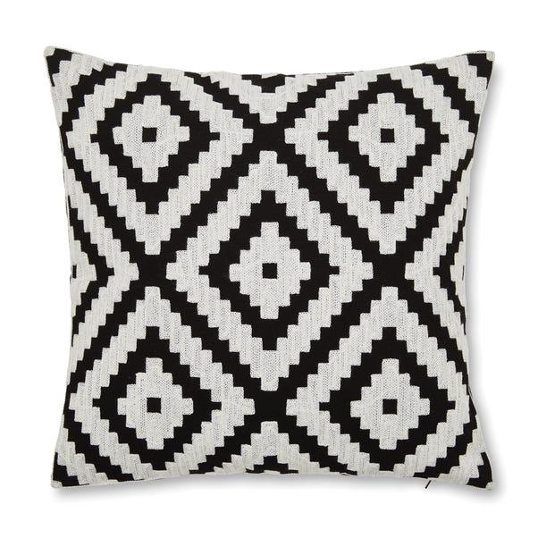 Geo Jewel Black And White Cushion Cover Black and white