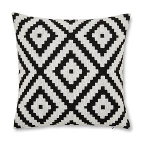 Geo Jewel Black And White Cushion Cover