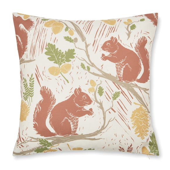 Squirrels Natural Cushion Cover Natural