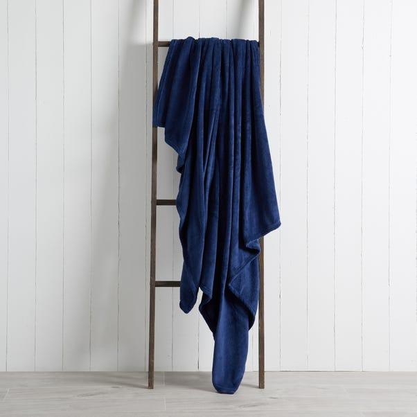 Soft Fleece 130cm x 170cm Throw Soft Fleece Navy