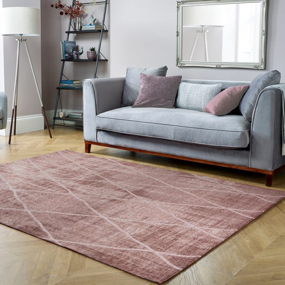 5A Fifth Avenue Sheer Diamond Geometric Rug 5A Sheer Diamond Blush (Pink) undefined