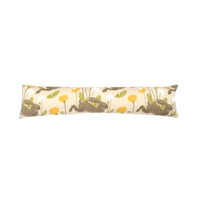 Jumping Hare Ochre Draught Excluder