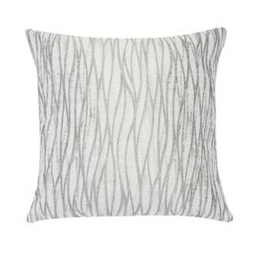Linear Stripe Silver Cushion Cover