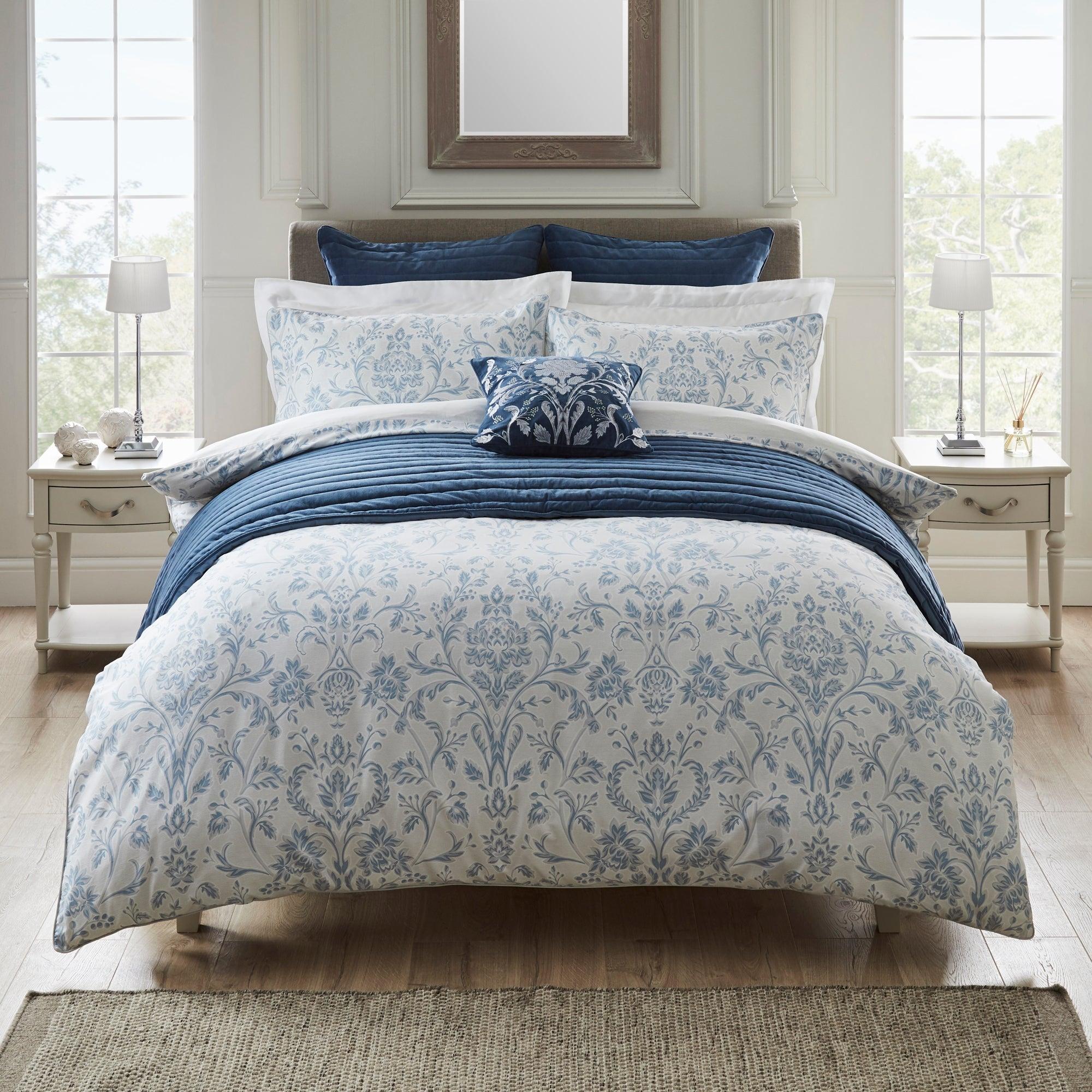 Dorma Dorma Remington 100% Cotton Duvet Cover Blue | Single
