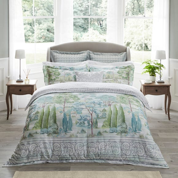Dorma Marbury 100% Cotton Digitally Printed Duvet Cover  undefined