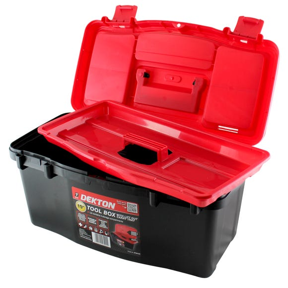 Dekton 19 Inch Tool Box Black