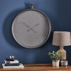 Apartment 60cm Wall Clock Grey