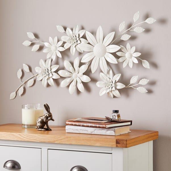 Vintage Cream Floral Wall Art Cream