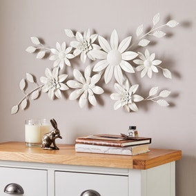 Vintage Cream Floral Wall Art