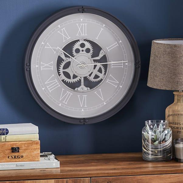 Mechanism 51cm Wall Clock Grey Grey