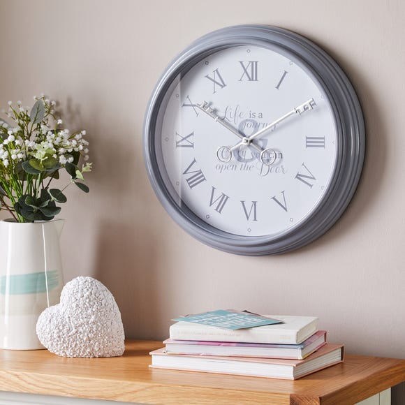 Key 40cm Wall Clock Grey Grey