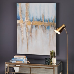 Blue and Gold Ombre Canvas