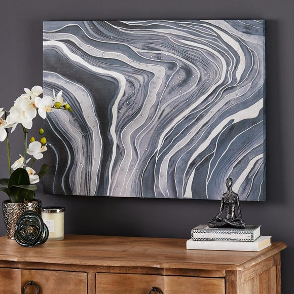 Large Marble Canvas Grey