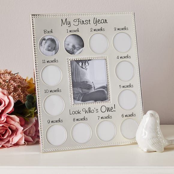 My First Year Silver Plated Photo Frame Silver
