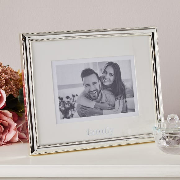 Family Silver Plated Frame Silver