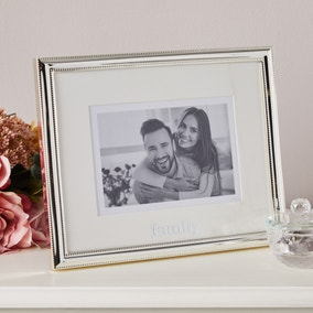 Family Silver Plated Frame