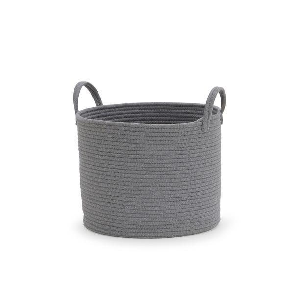 Cotton Rope Grey Storage Basket