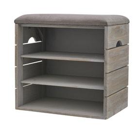 3 Tier Grey Shoe Cabinet