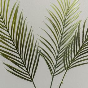 Set of 3 Artificial Palm Green Spray Bundle 70cm