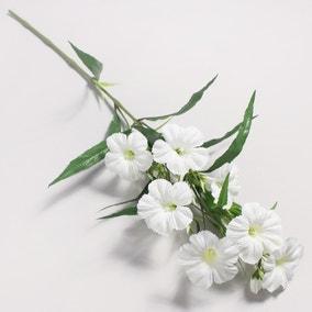 Artificial Petunia White Single Spray 78cm