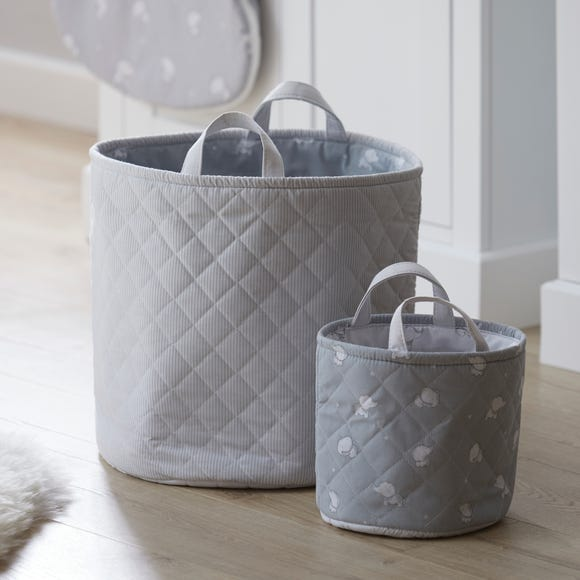Tiny But Mighty Pack of 2 Storage Bags Grey