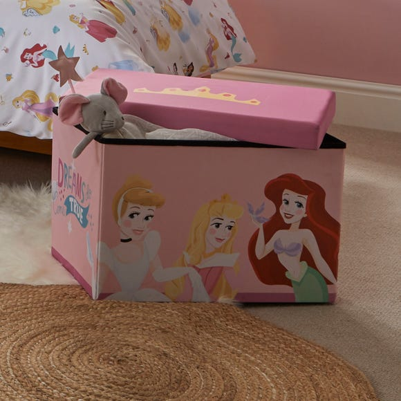Disney Princess Collapsible Ottoman Multi Coloured