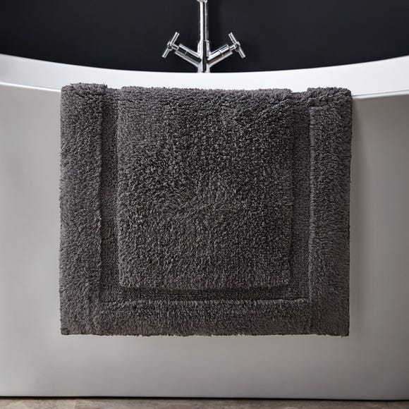 Hotel Cotton Graphite Bath Mat Graphite