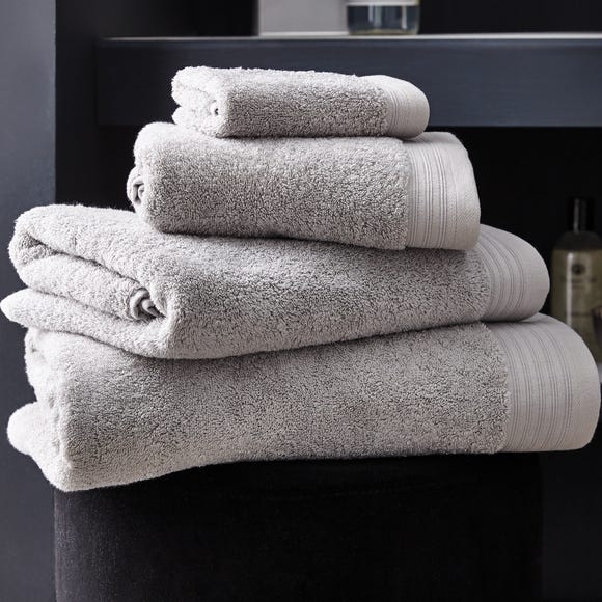 Hotel Pima Cotton Soft Grey Towel Grey undefined