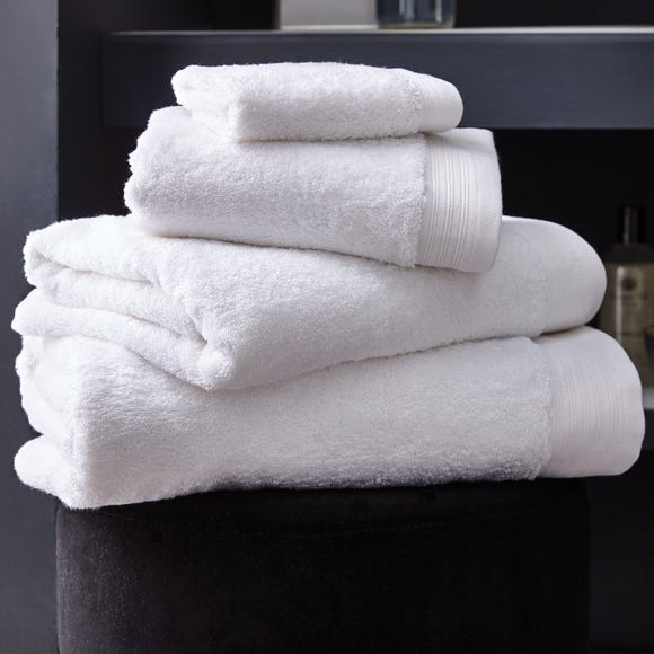 Hotel Pima Cotton White Towel White undefined