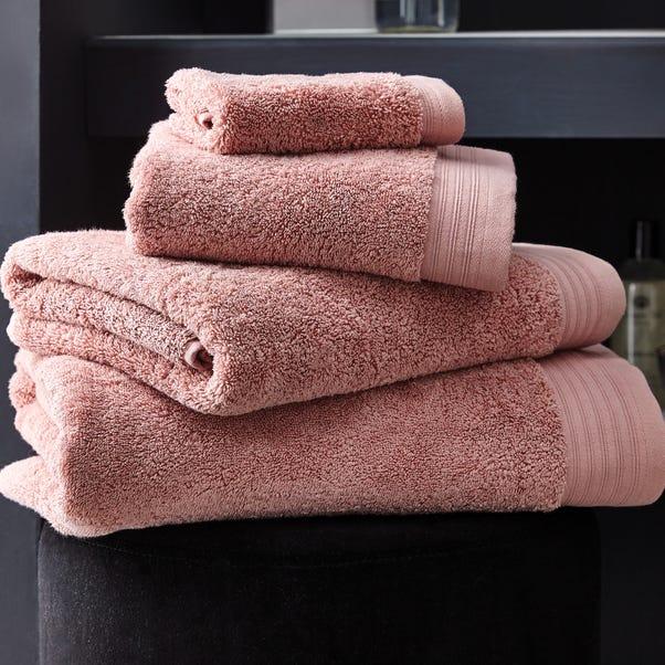 Hotel Pima Cotton Dusky Pink Towel  undefined