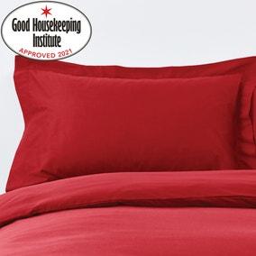 Non Iron Plain Dye Red Oxford Pillowcase