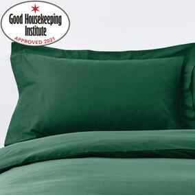 Non Iron Plain Dye Hunter Green Oxford Pillowcase