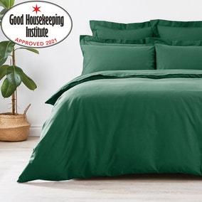 Non Iron Plain Dye Hunter Green Duvet Cover