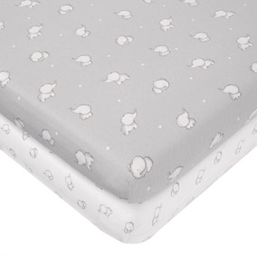 Tiny But Mighty Jersey Pack of 2 Cot Bed Fitted Sheets