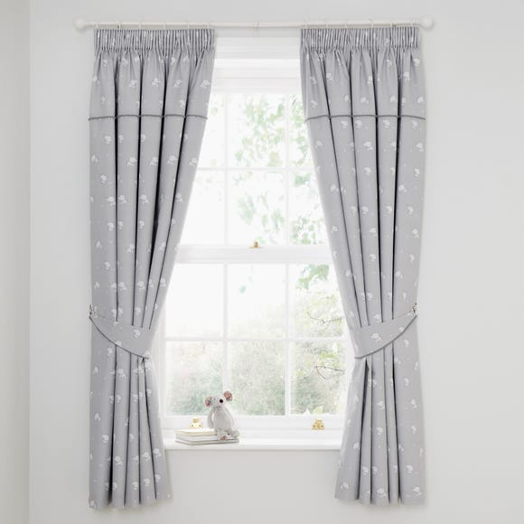 Tiny But Mighty Blackout Pencil Pleat Curtains Grey undefined