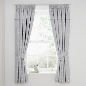 Tiny But Mighty Blackout Pencil Pleat Curtains