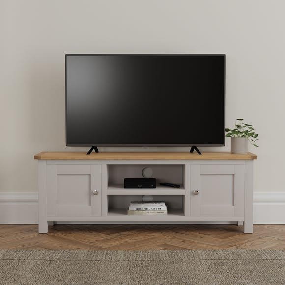 Bromley Grey Wide TV Stand Grey