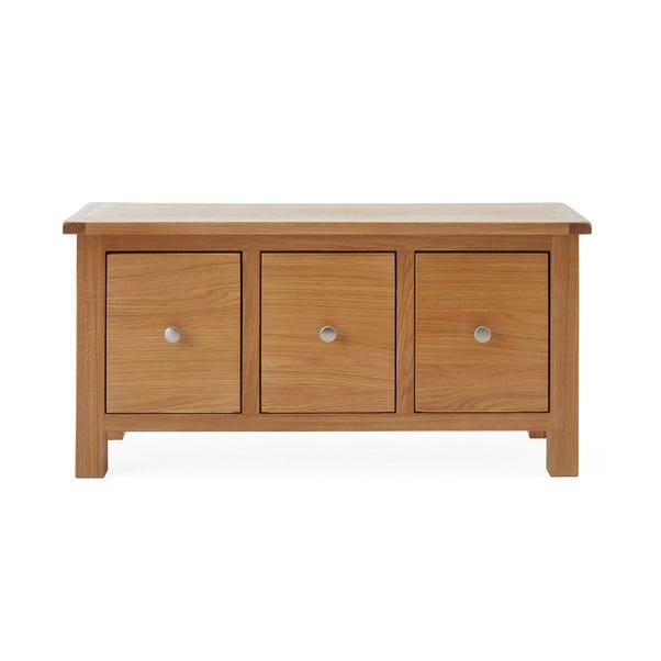 Bromley Oak Storage Bench Oak (Brown)
