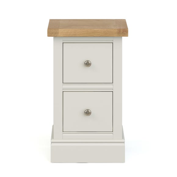 Compton Ivory Slim Bedside Table Ivory